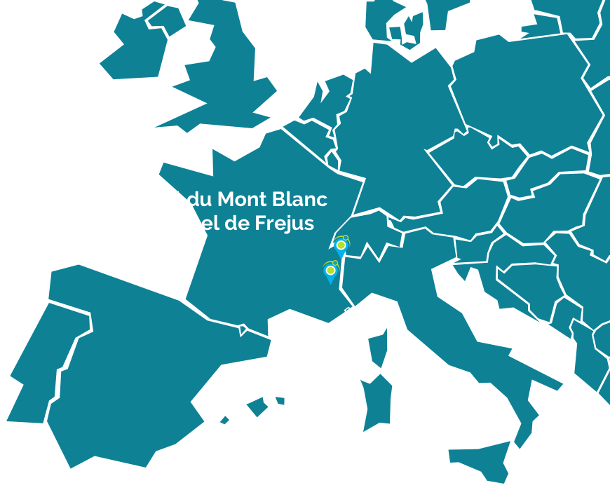 Map Tunnels Alpins
